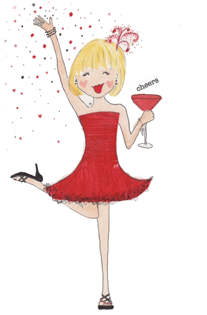 celebration-girl-red