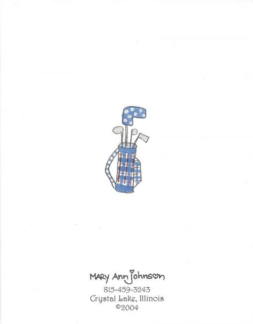 Tee Off for a Happy Birthday card back