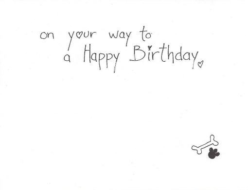 On your way to a Happy Birthday card inside