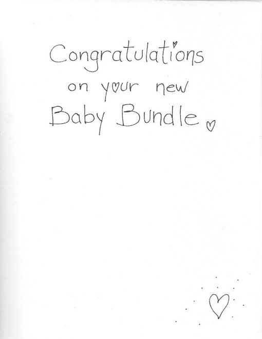 Congratulations on your new Baby Bundle card inside