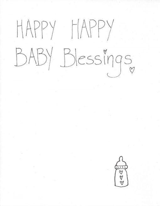 Happy Happy Baby Blessings card inside