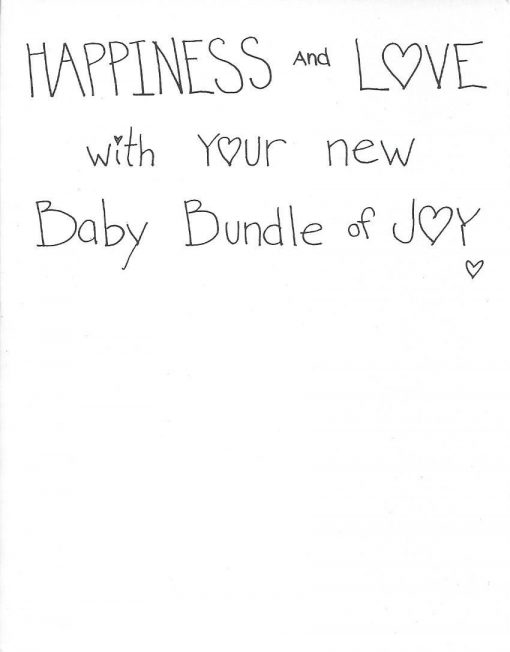 Happiness and Love with your new Baby Bundle of Joy card inside