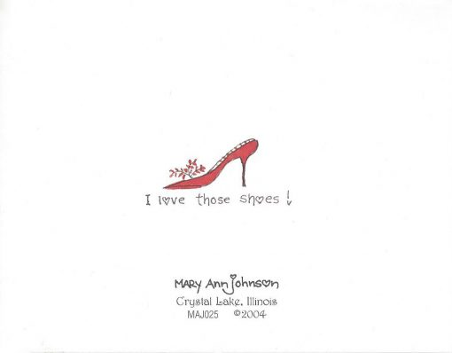 When you wish upon a shoe... card back