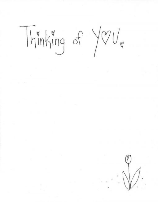 Thinking of You... card inside