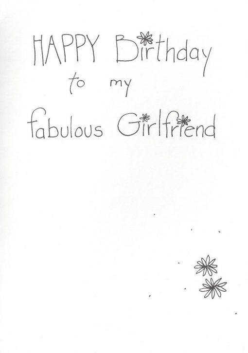 Happy Birthday to my fabulous Girlfriend card inside right