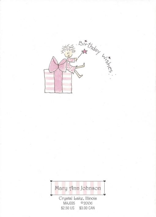 Birthday Wishes card back