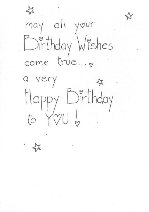 Birthday Wishes card inside right