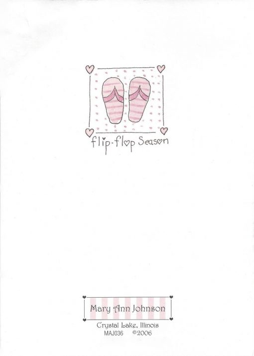 Have a flippin fabulous Birthday! card back