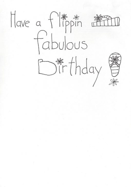 Have a flippin fabulous Birthday! card inside right