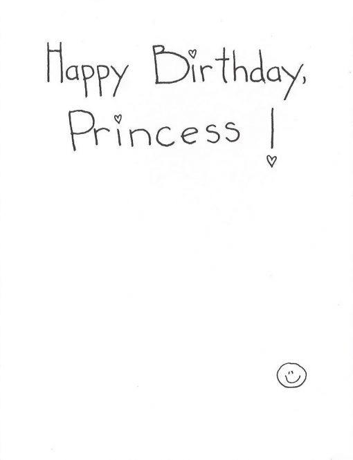 Happy Birthday, Princess! card inside right