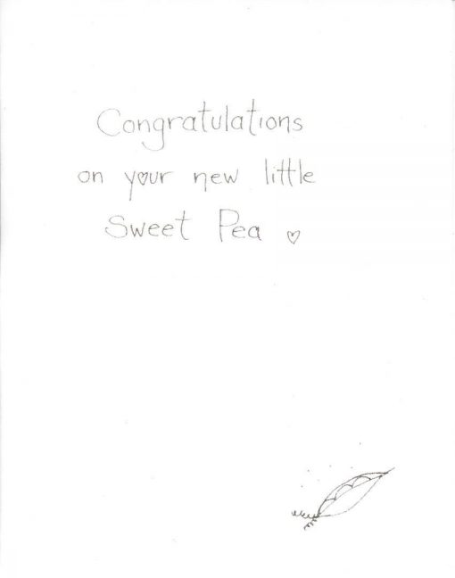Sweet Pea card inside