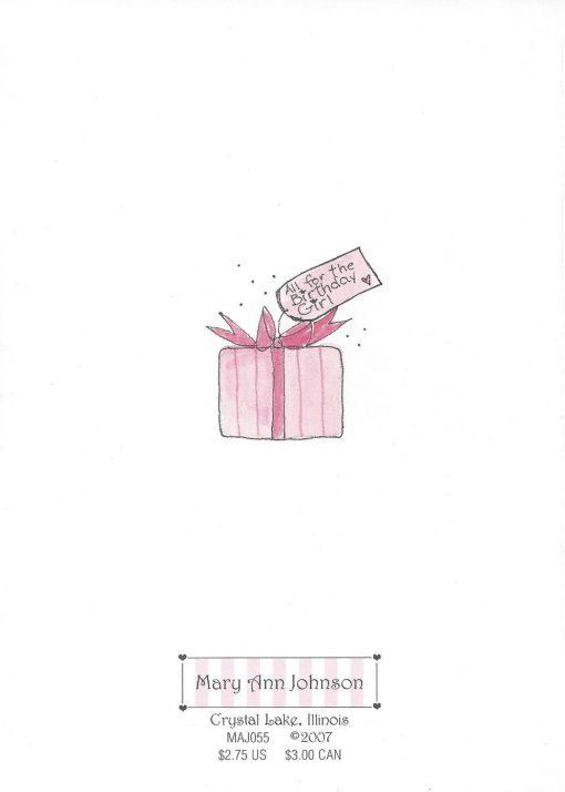 Super Birthday Girl card back