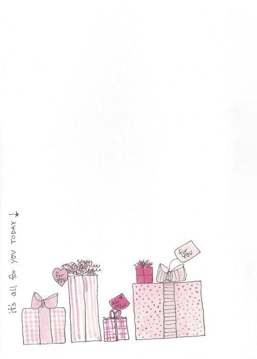 Super Birthday Girl card inside left