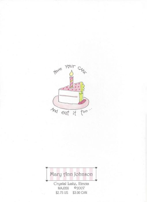 TODAY is your Birthday HAPPY Birthday to YOU card back