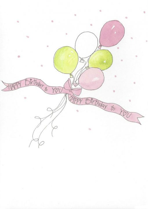 TODAY is your Birthday HAPPY Birthday to YOU card inside right