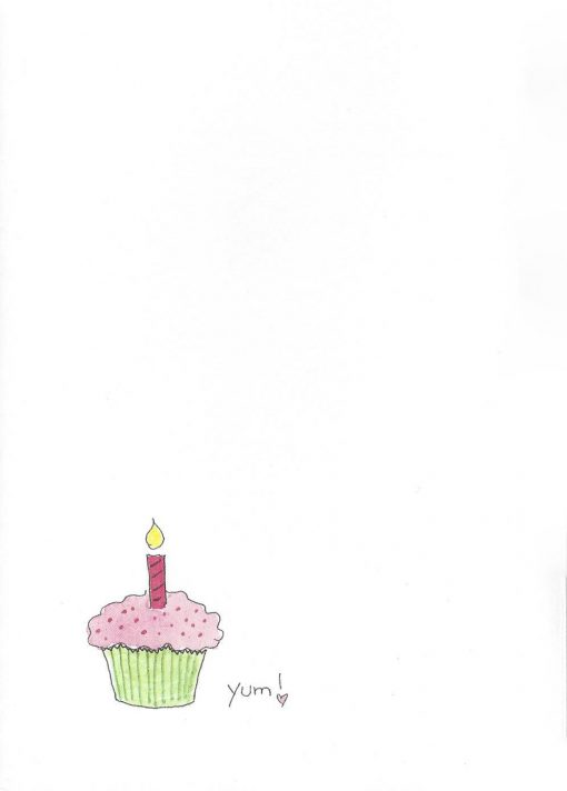 HAPPY Birthday, CUPCAKE card inside left