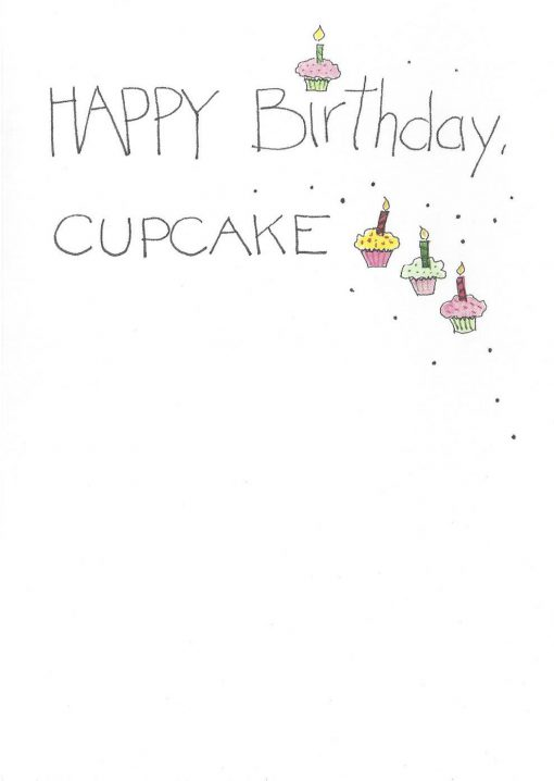 HAPPY Birthday, CUPCAKE card inside right
