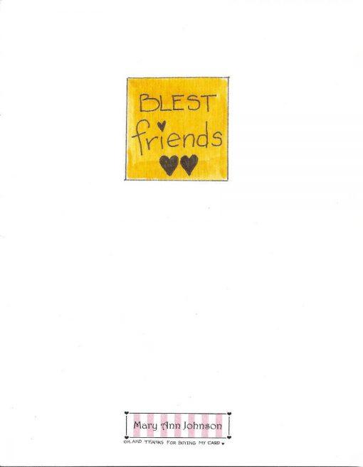 BLEST friends card back