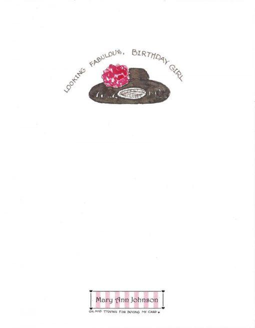 back of FABULOUS card