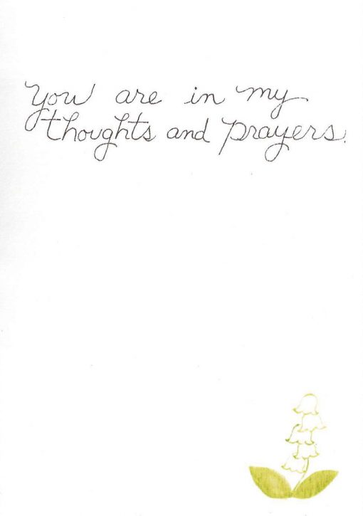 You are in my prayers and in my heart card inside right