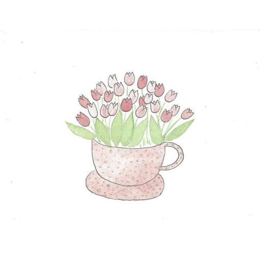 tulips in mug