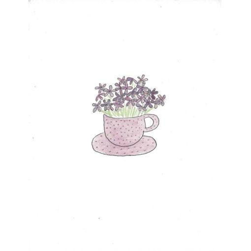flowers in mug