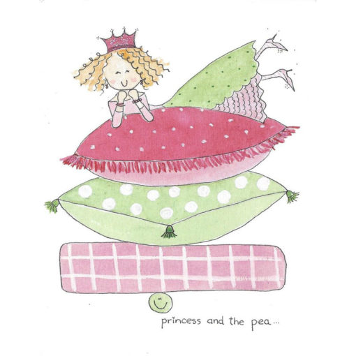princess and the pea card front