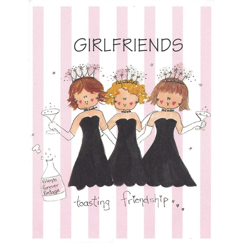 Greeting Card image of girlfriends toasting friendship