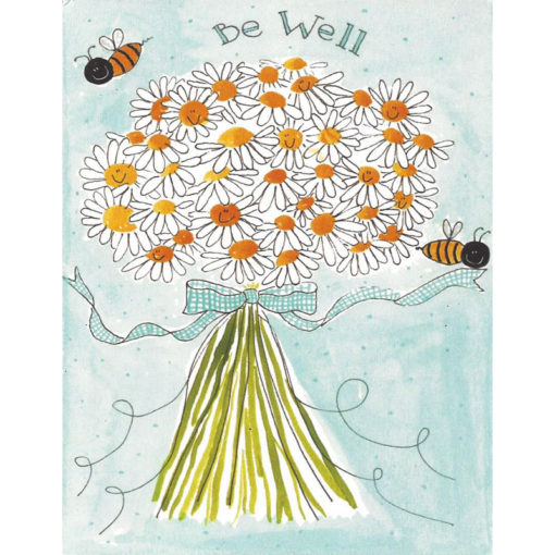 daisies with bees