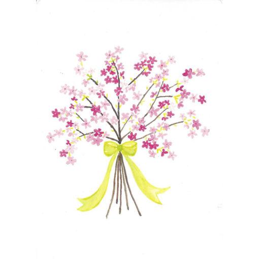 cherry blossom bundle of flowers