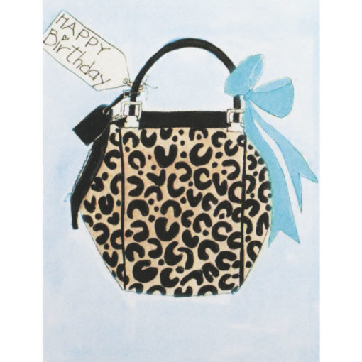 cheetah purse with blue bow