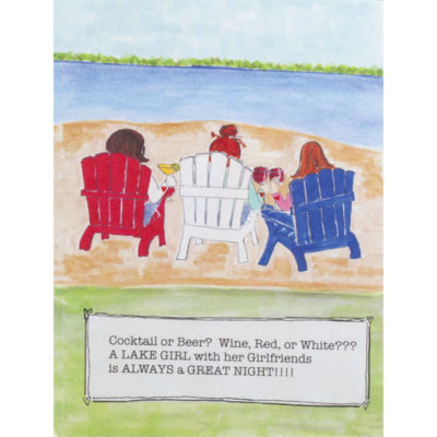 girls on beach in lawn chairs