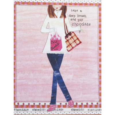 girl carrying bag of chocolate