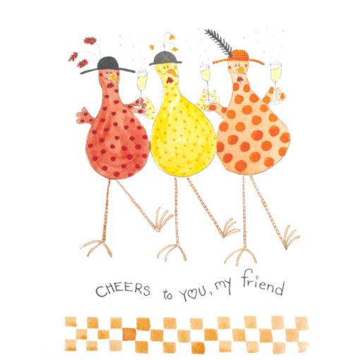 front of Happy Birthday Chickadee! card