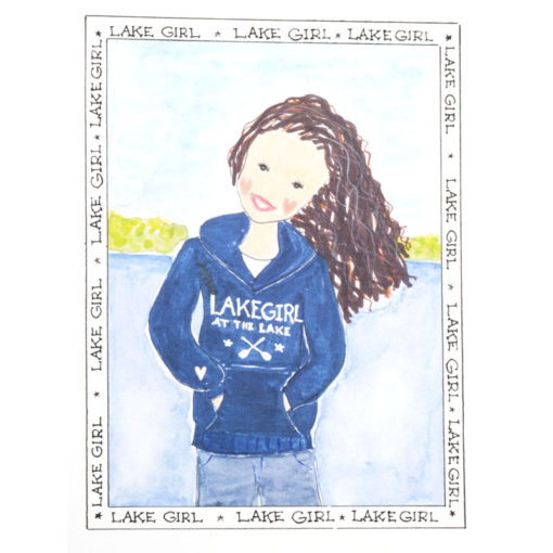 front of lake girl - Sweatshirt card