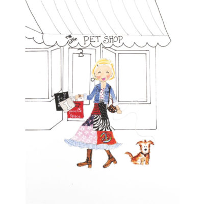 front of Shop Girl - Pet Shop card