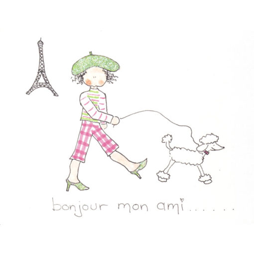 front of Bonjour Mon Ami card