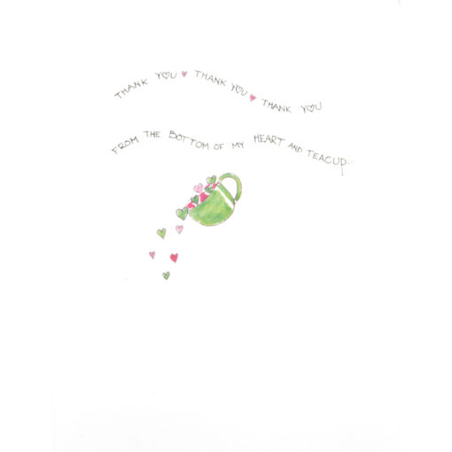 inside of a little cup of thanks card