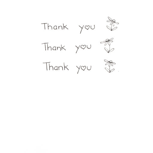 right inside of thank you thank you thank you card