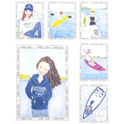 Lake Girls Card Set