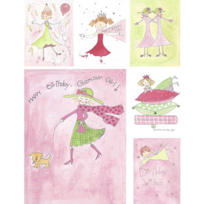 Pretty Birthday Card Set