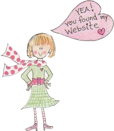 "Greeting Card Artist Mary Ann Johnson saying ""Glad you found the website!"""