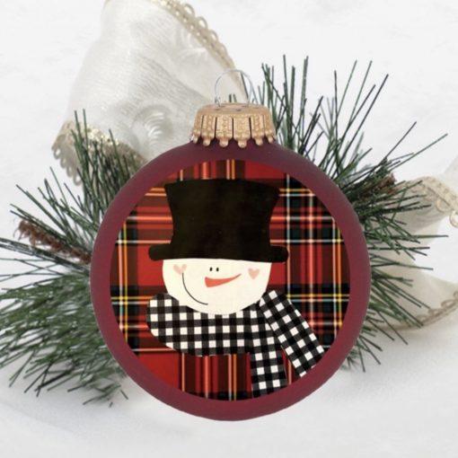 red snowman ornament