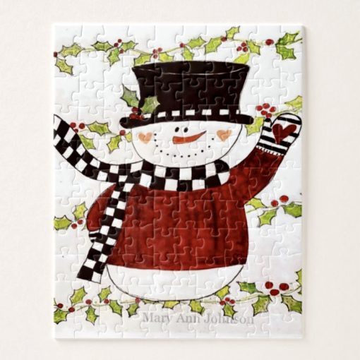 Checkered Snowman Puzzle