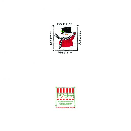checkered snowman card back