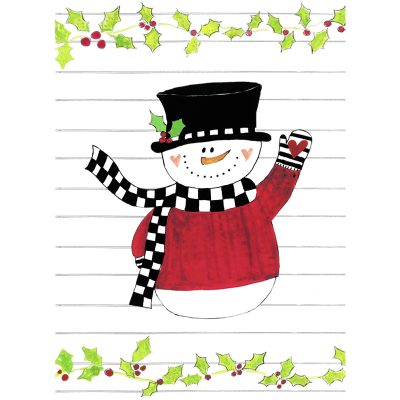 Checkered Snowman card front
