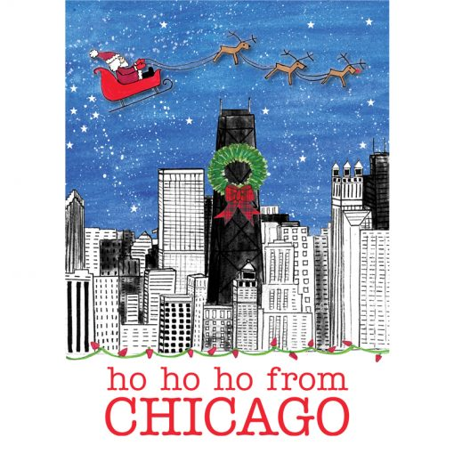 Ho Ho Ho from Chicago card front