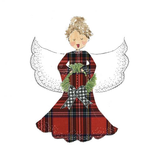 plaid angel card front